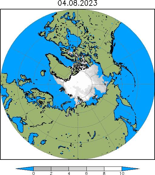 Сплоченность ледового покрова в Арктике